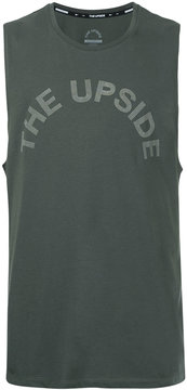 The Upside logo print muscle T-shirt