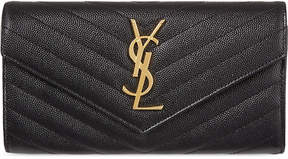 Saint Laurent Monogrammed quilted leather wallet - BLACK - STYLE