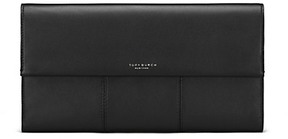 Tory Burch Block-T Travel Clutch - BLACK - STYLE