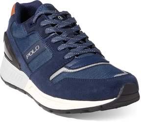 Ralph Lauren Train 100 Suede-Mesh Sneaker