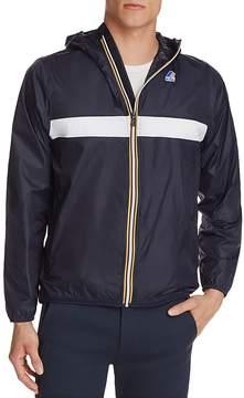 K-Way Chest Stripe Zip Windbreaker Jacket
