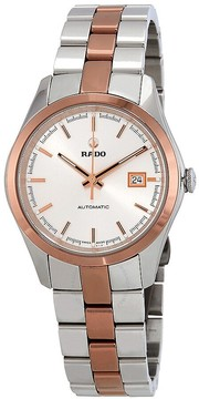 Rado Hyperchrome Silver Dial Automatic Ladies Two Tone Watch