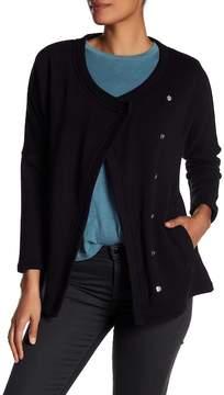 Blanc Noir Snap Front Fleece Sweater