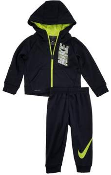 Nike Toddler Boys Black Therma Dri-Fit Track Suit Active Hoodie & Pants Set 2T