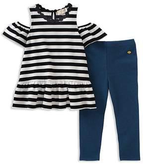 Kate Spade Girls' Striped Cold-Shoulder Top & Leggings Set - Baby