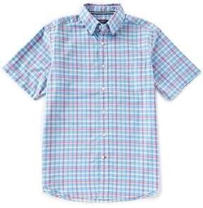Daniel Cremieux Big & Tall Check Oxford Short-Sleeve Woven Shirt
