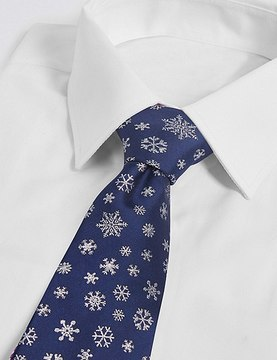 Marks and Spencer Snowflake Novelty Tie