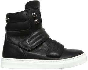 DSQUARED2 Leather High Top Sneakers