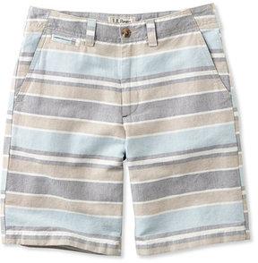 L.L. Bean L.L.Bean Summer Shorts, Standard Fit Linen/Cotton Stripe