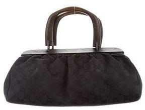 Gucci GG Wood Handle Bag - BLACK - STYLE