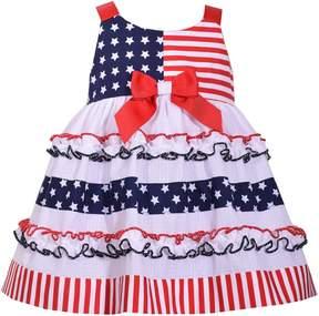 Bonnie Jean Baby Girl Star & Stripe Print Dress