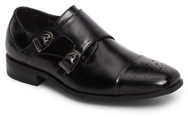 Stacy Adams Boy's Trevor Cap Toe Monk Shoe