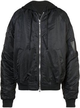 Juun.J oversized hooded bomber jacket