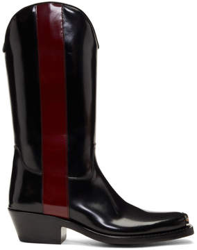 Calvin Klein Black and Red Ed Western Boots