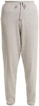 Allude Side-stripe cotton-blend knitted trousers
