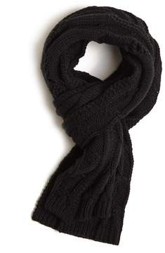 21men 21 MEN Men Cable Knit Distressed Scarf