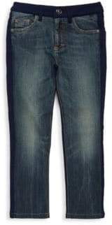 Versace Little Boy's & Boy's Buttoned Denim Jeans