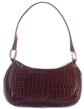 Oscar de la Renta Alligator Shoulder Bag