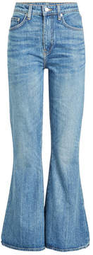 Brock Collection Belle Cropped and Flared Jeans