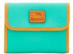 Dooney & Bourke Patterson Leather Small Flap Credit Card Wallet - JADE - STYLE