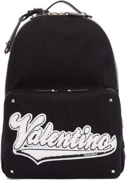 Valentino Black Garavani Varsity Backpack