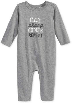 First Impressions Eat Sleep Cuddle Repeat Coverall, Baby Girls & Baby Boys (0-24 months), Created for Macy's
