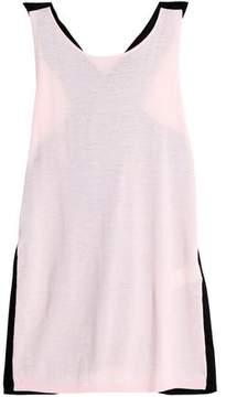 Amanda Wakeley Paneled Two-Tone Cashmere Top