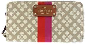 Kate Spade Taupe Canvas Neda Wallet - TAUPE - STYLE