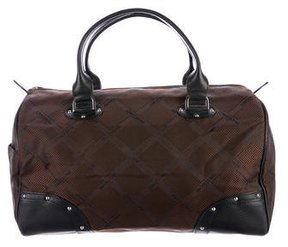 Longchamp Leather-Trimmed Handle Bag - BROWN - STYLE