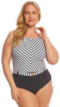 Bleu Rod Beattie Plus Size Cruise Control High Neck XBack One Piece Swimsuit - 8152757