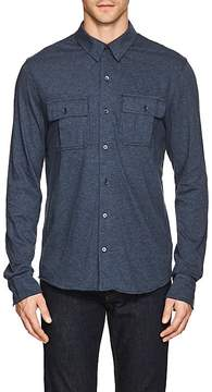 James Perse MEN'S MÉLANGE COTTON SHIRT