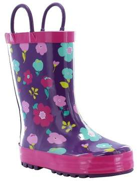 Western Chief Toddler Girl Lovely Floral Rain Boot Purple
