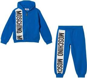 Moschino Blue Stripe Logo Tracksuit