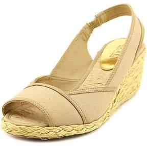 Lauren Ralph Lauren Catrin Women US 9.5 Tan Wedge Sandal