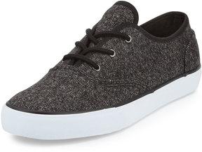 Andrew Marc Neptune Knit Low-Top Sneaker, Black/White