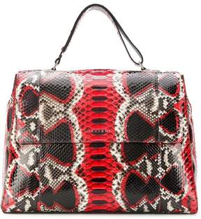 Orciani snakeskin effect tote bag