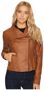 Andrew Marc Felix 19 Feather Leather Jacket Women's Coat