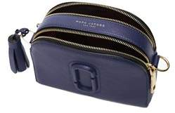 Marc Jacobs Women's Blue Leather Shoulder Bag. - BLUE - STYLE