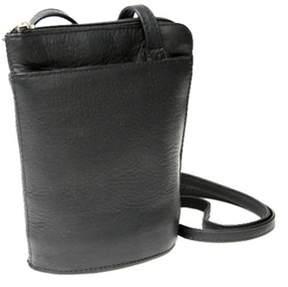 Royce Leather Women's Vaquetta Petite L-zip Crossbody Bag.