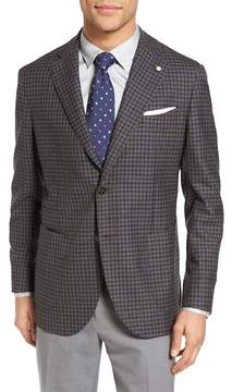 Lubiam L.B.M 1911 Unconstructed Classic Fit Check Wool Sport Coat