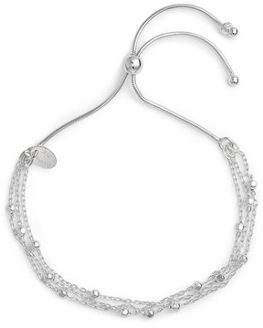 Argentovivo Women's Beaded Chain Bracelet