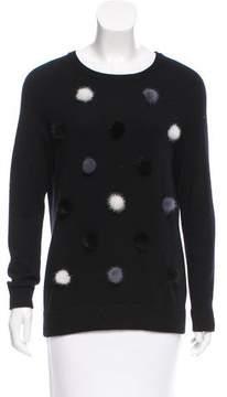 Autumn Cashmere Pom-Pom-Accented Cashmere Sweater