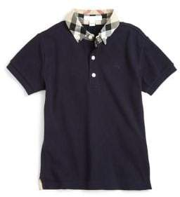 Burberry Boy's William Check Collar Polo Shirt