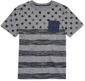 Arizona Short Sleeve V Neck T-Shirt-Big Kid Boys