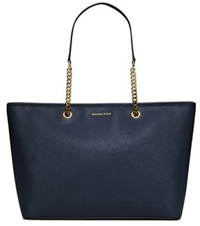 MICHAEL Michael Kors Michael Kors Jet Set Travel Medium Multifunction Tote. - NAVY - STYLE