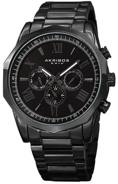Akribos XXIV Men's Swiss Quartz Multifunction Bracelet Watch