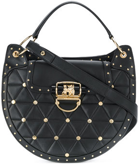 Balmain quilted rivet tote bag