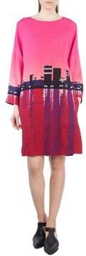 Akris Punto Sunset Print Shift Dress