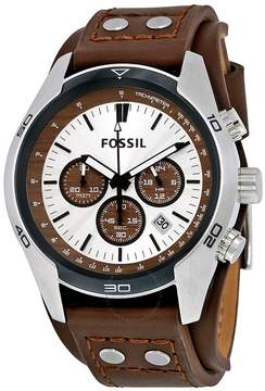 Fossil Coachman Chronograph Cuff Leather Men's Watch