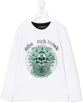 John Richmond Kids embellished skull long sleeve T-shirt